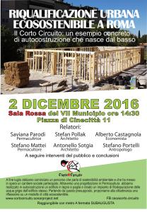 riqualificazione urbana ecosostenibile a Roma